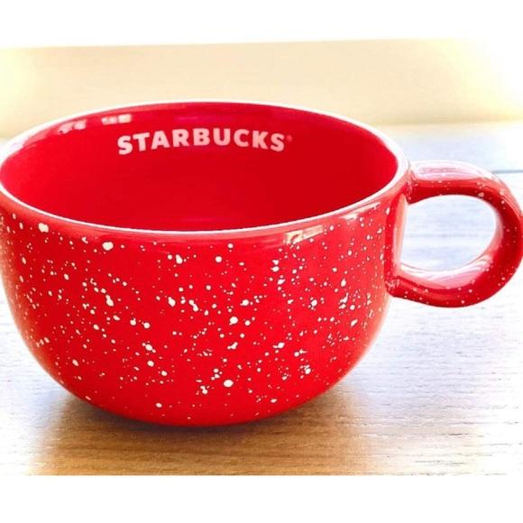 NEW Starbucks 2019 red speckled holiday mug 16 oz